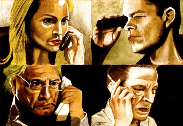 Brian Cox, Chris Cooper, Joan Allen, Matt Damon by eiger3975
